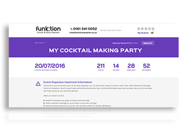My Events VIP Area Funktion Events Screen 1