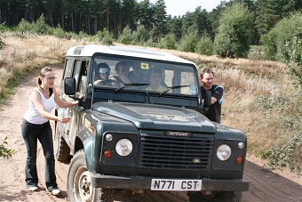 Blindfold 4x4 Driving Birthday Party in Nottingham