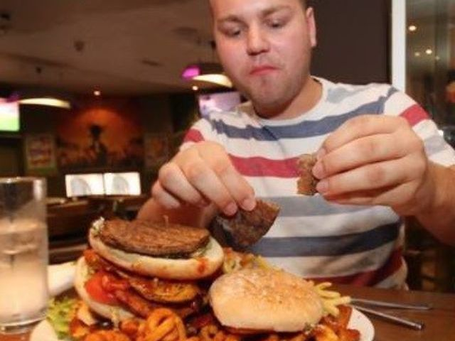 Man Vs Food Burger Challenge