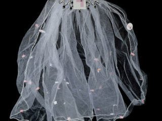 Flashing Bride to Be L Plate Comb Veil