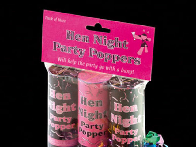 Hen Party Poppers & Balloons