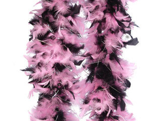 Pink & Black Feather Boa