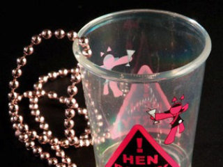 Hen Party Warning Shot Glass