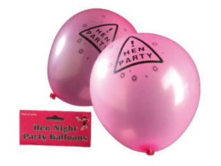 Pink Hen Night Party Balloons (12pk)