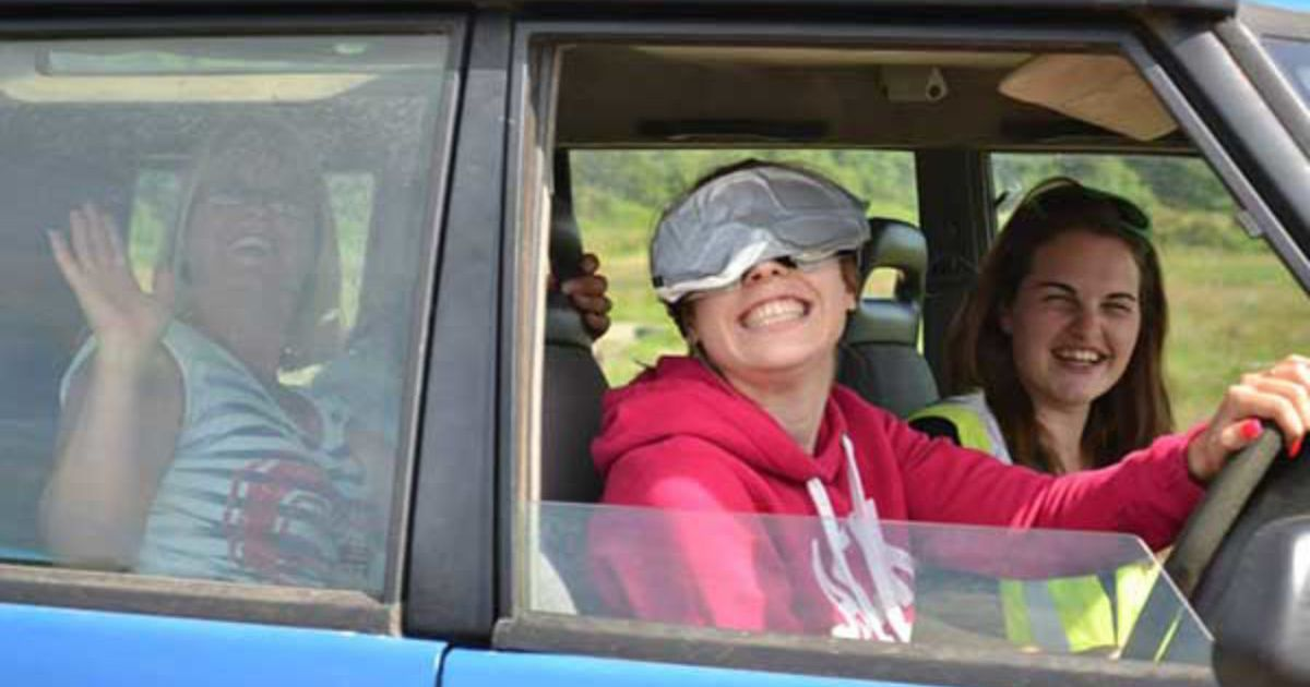 Blindfold 4x4 Driving Hen Party Oxford