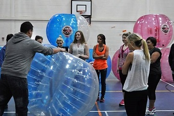 Hilarious Zorb Bubbles Hen Weekend in Manchester