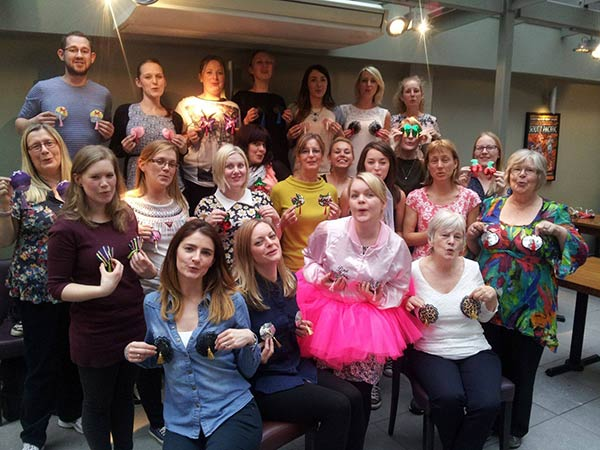 Mobile nipple tassels hen party in newcastle for Hen party at home decorations