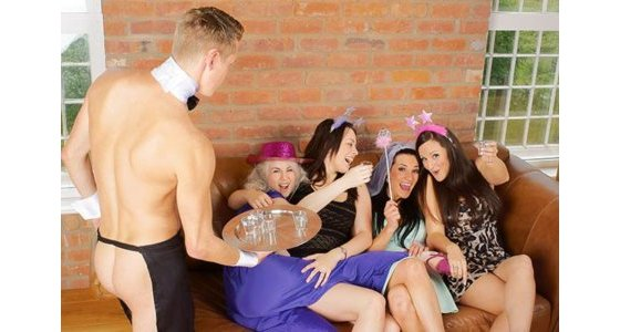 Naked Butlers Hen Party Cardiff
