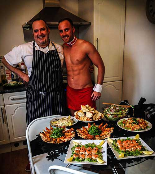 Mobile Naked Chef Indulgent Meal Hen Parties