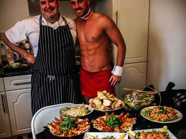 Naked Chef Spanish Meal Hen Party Bath