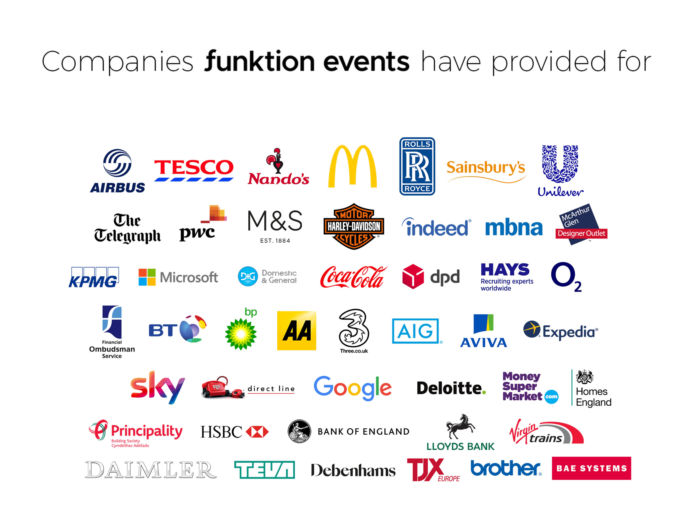 Companies We'e Provided Events For