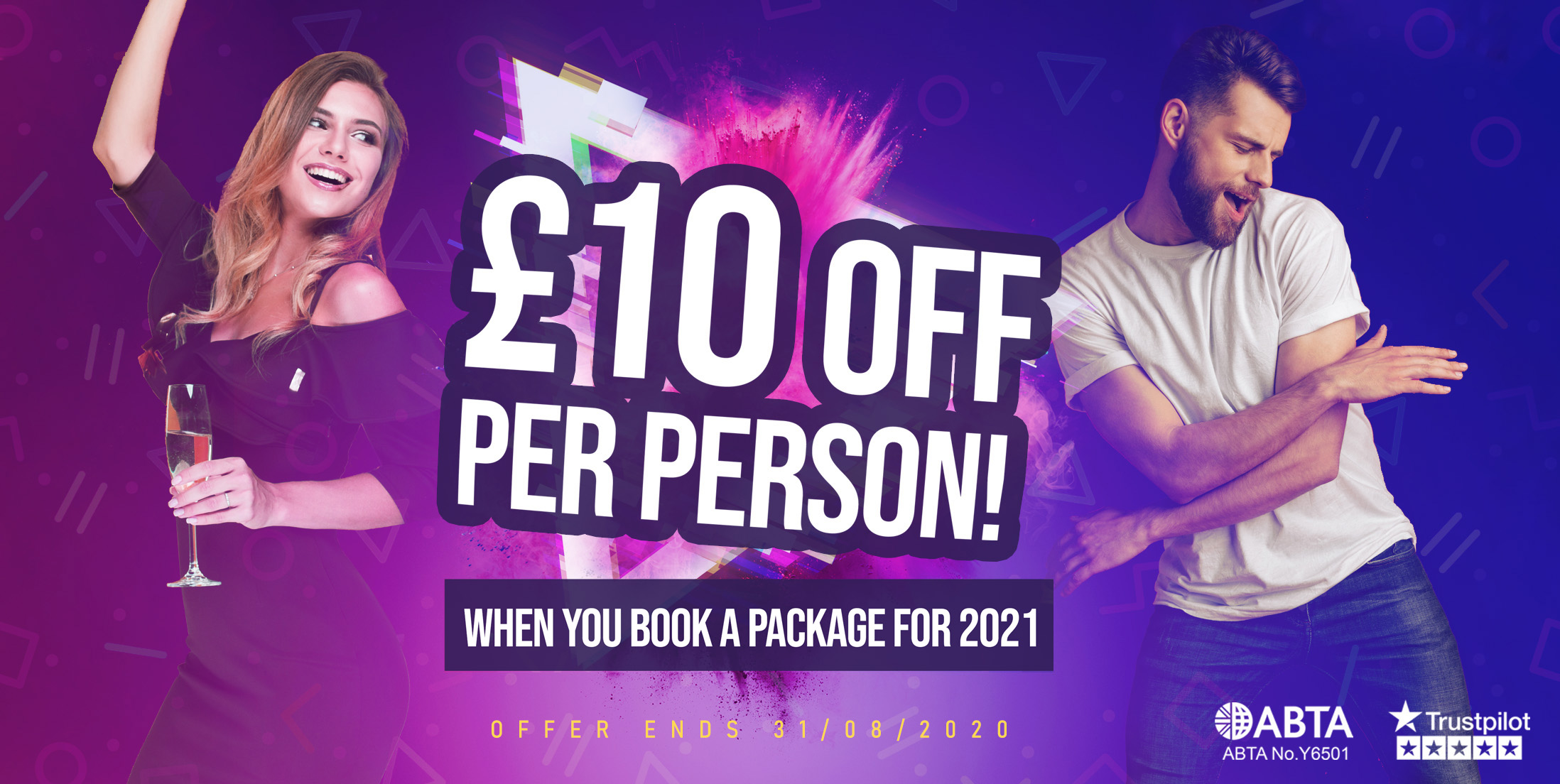 £10 OFF Per Person for 2021 Special Offer