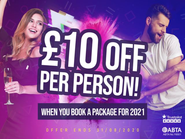 £10 OFF Per Person - Special Offer