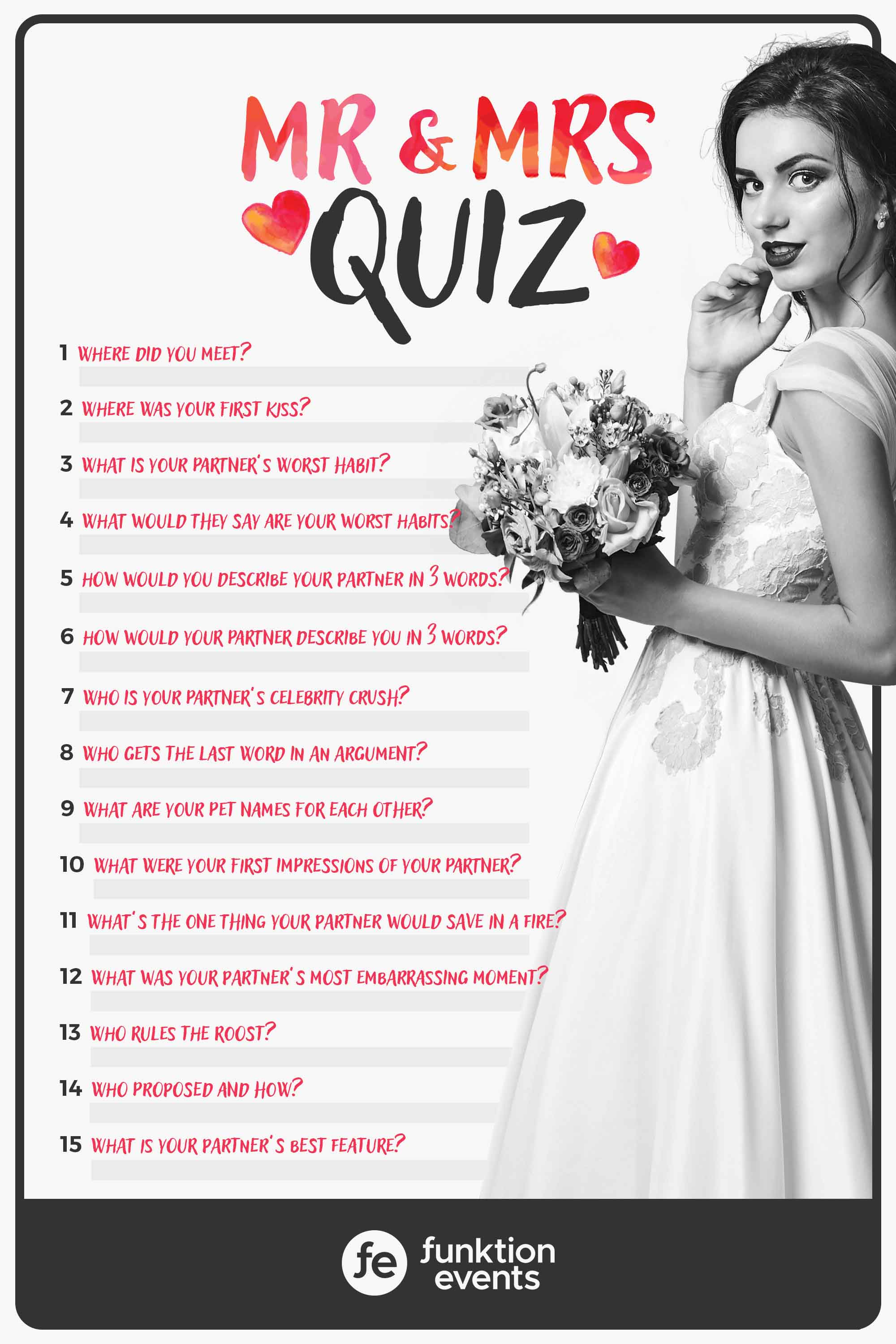 Printable Mr & Mrs Questions Quiz
