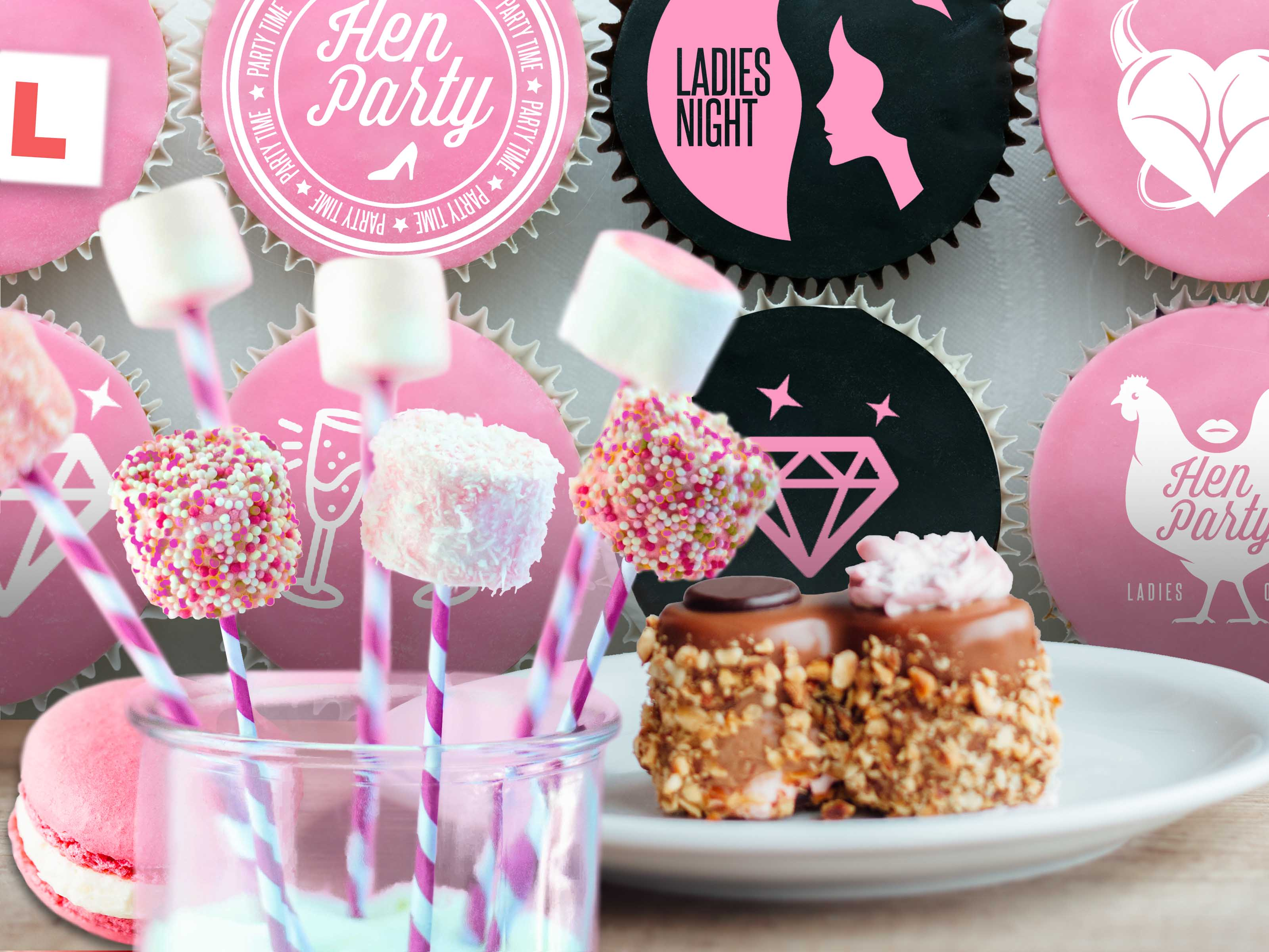 Hen Party Cupcakes & Macaroons