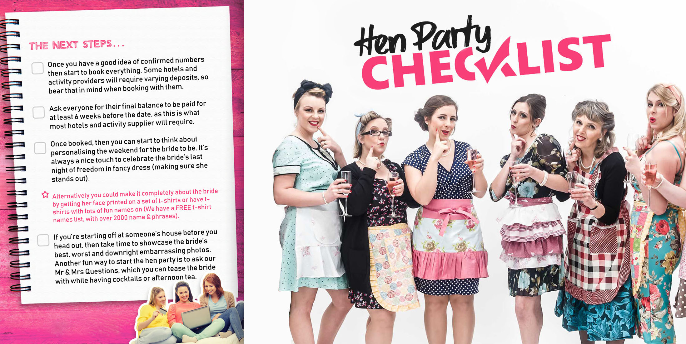Freebies Page - Hen Party Checklist