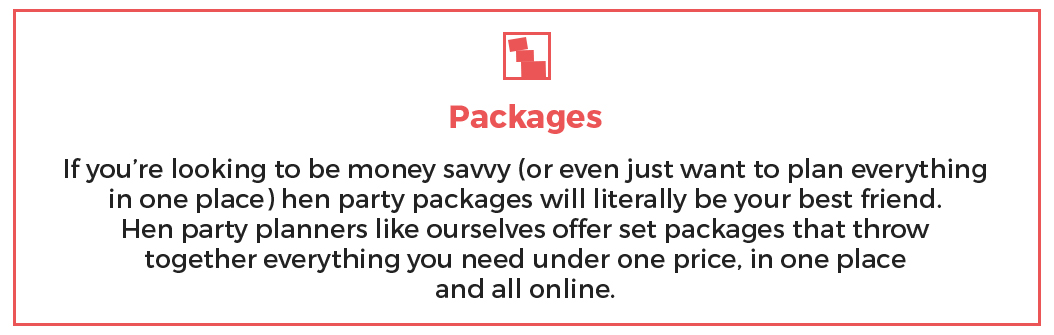 Packages for Hen Party Planning