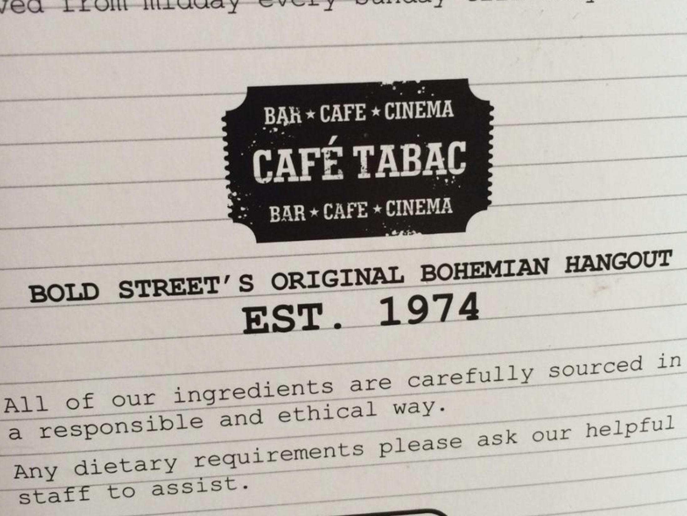 Best Breakfast in Liverpool - Cafe Tabac