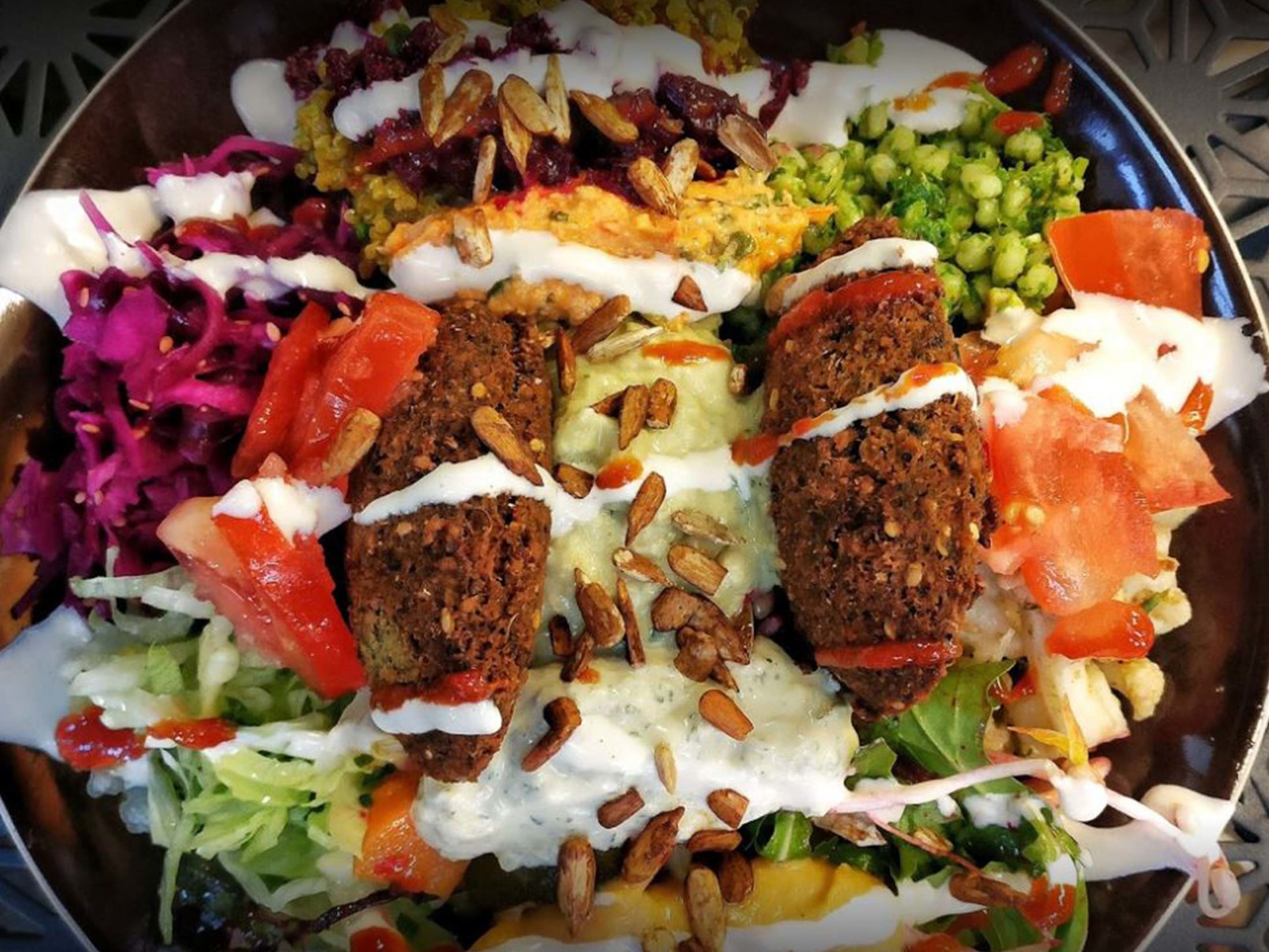 Best Vegan Restaurants in Brighton - Smorl's Houmous Falafel & Salad Bar