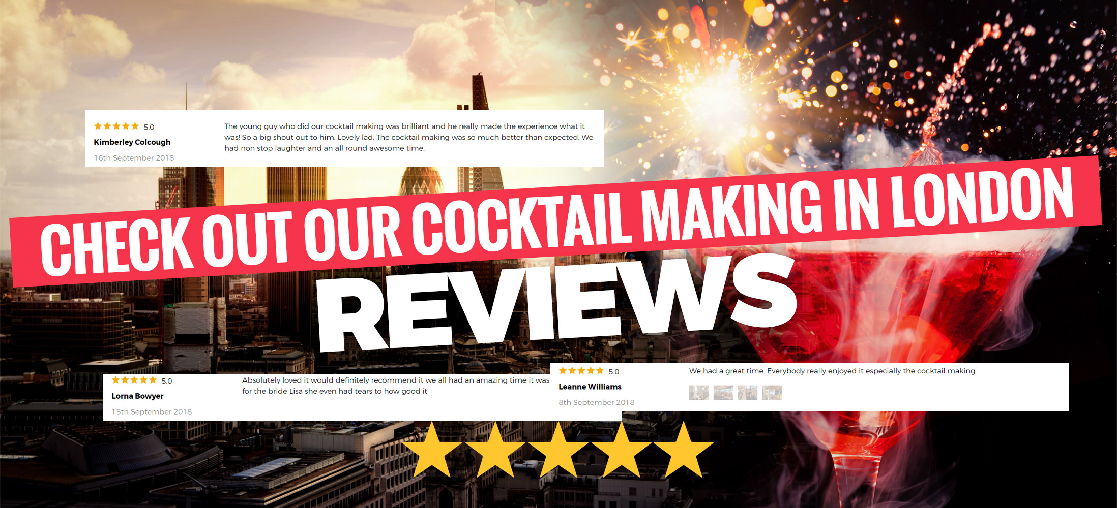 Cocktail Making Hen Party in London Reviews