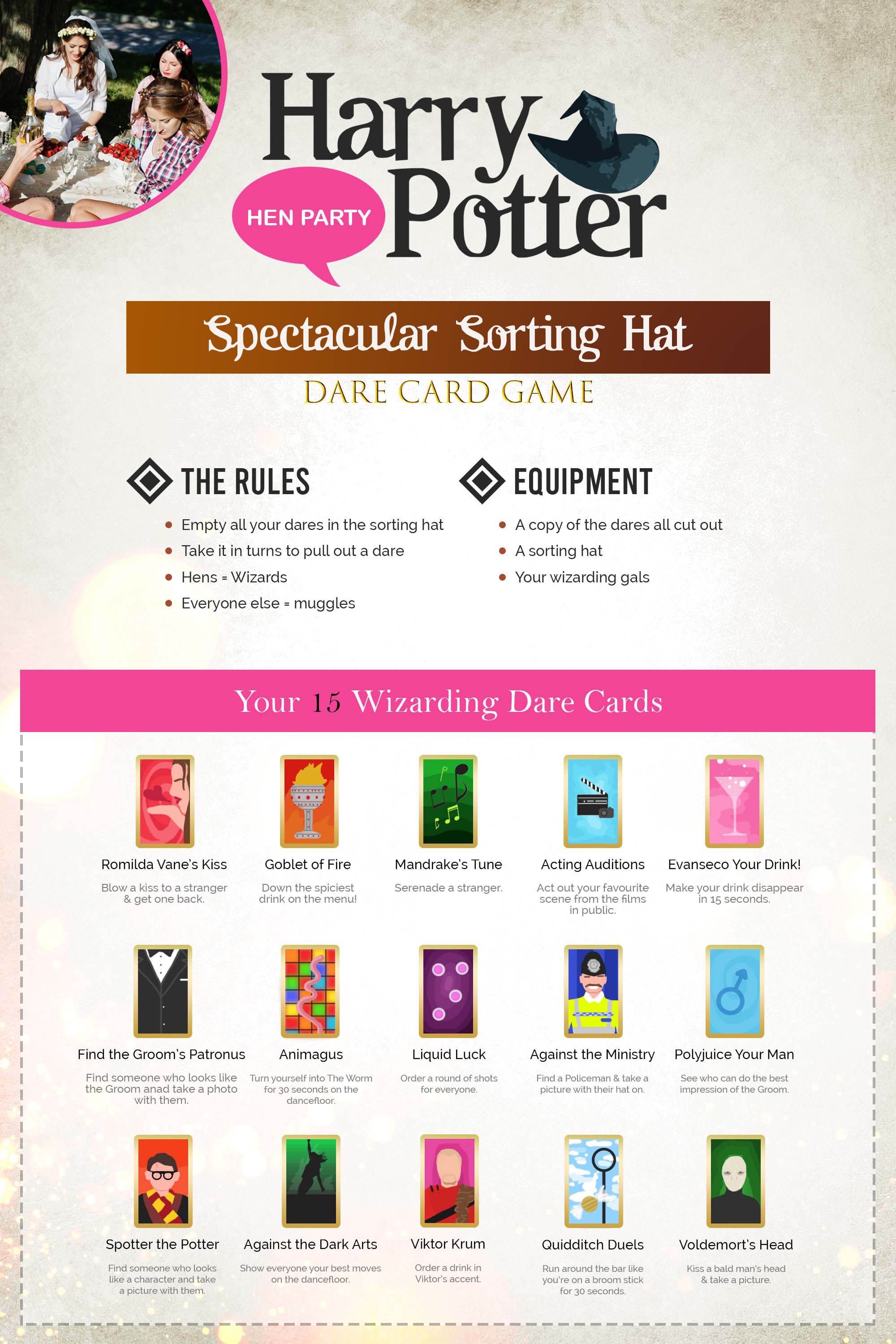 Spectacular Sorting Hat Dare Card Game