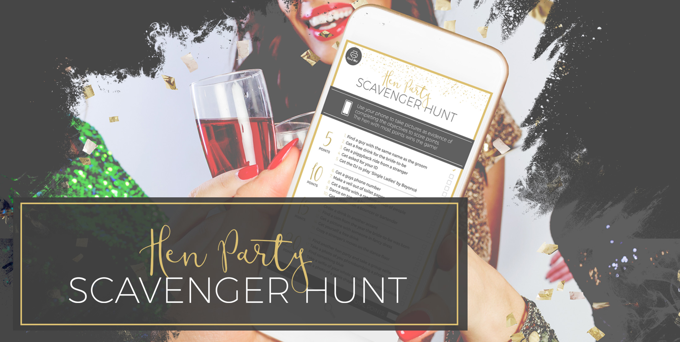 Hen Party Scavenger Hunt