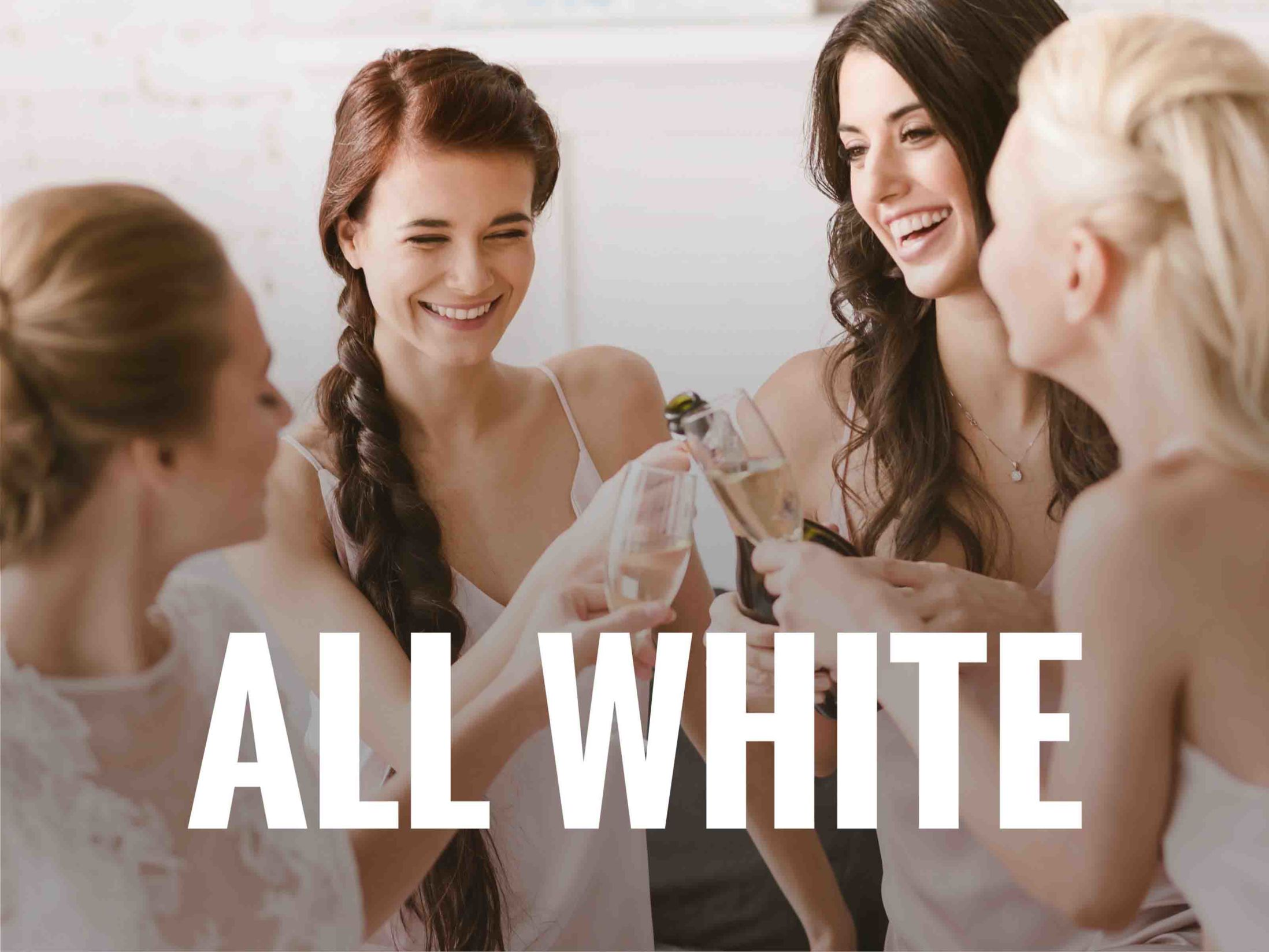 All White - Black and White Hen Party Theme Ideas