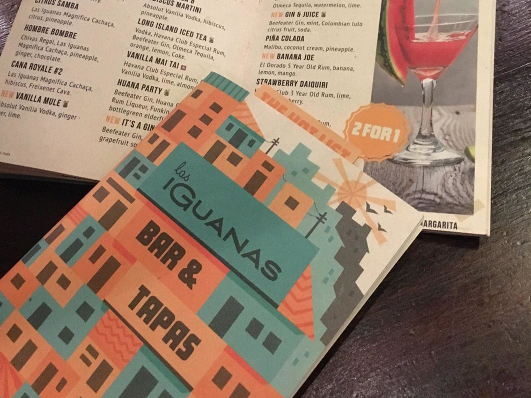 Manchester Bars for a Working Lunch - Las Iguanas