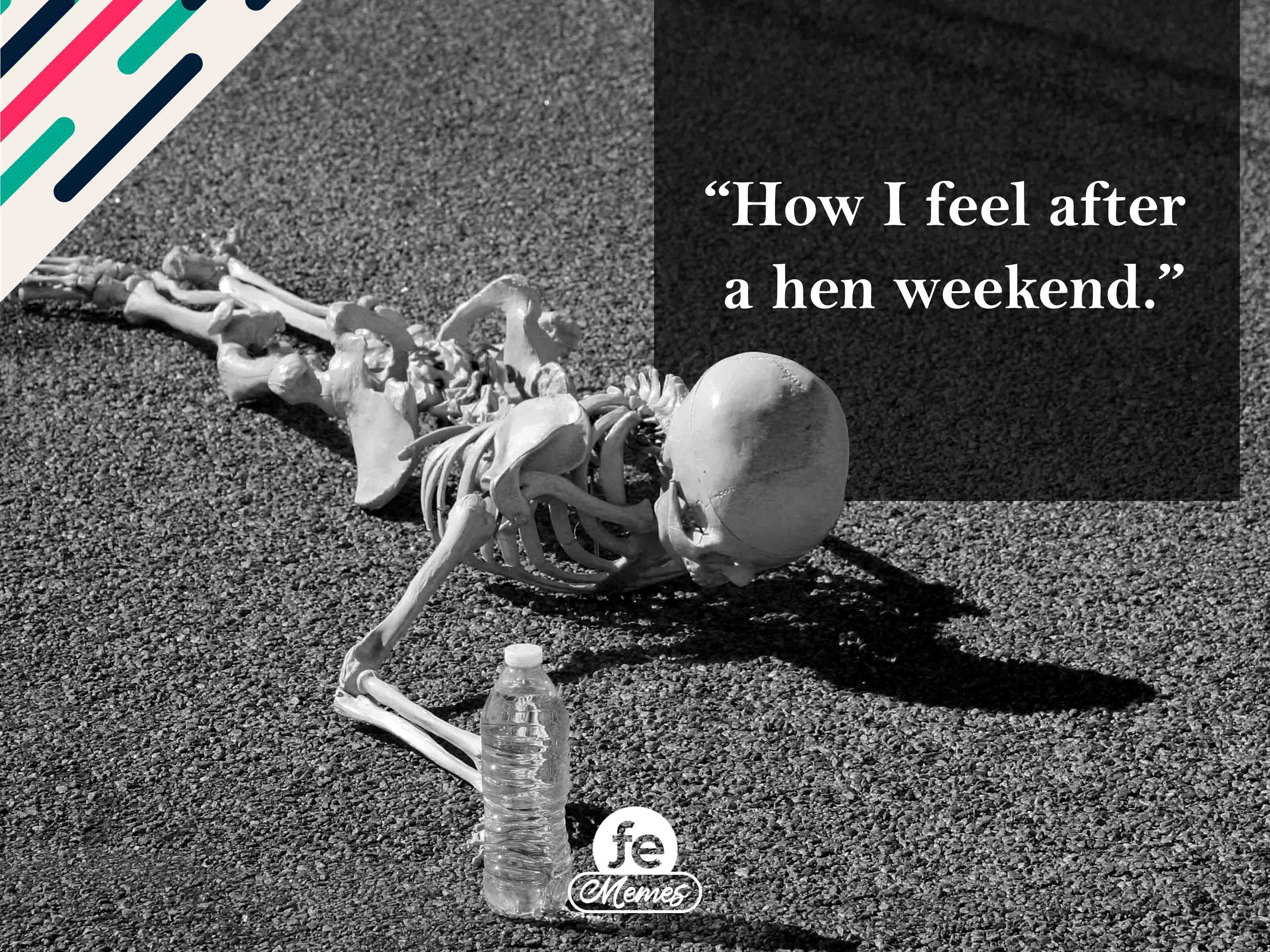How I feel after a hen weekend - Meme 4