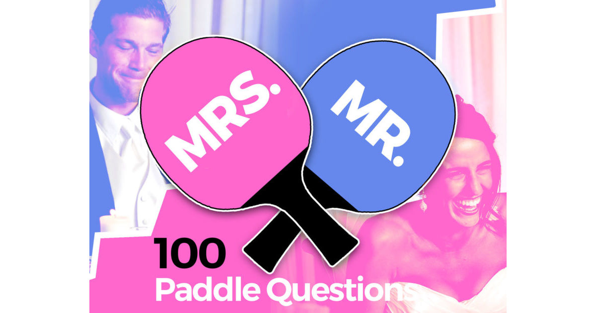Mr & Mrs Paddle Questions Game