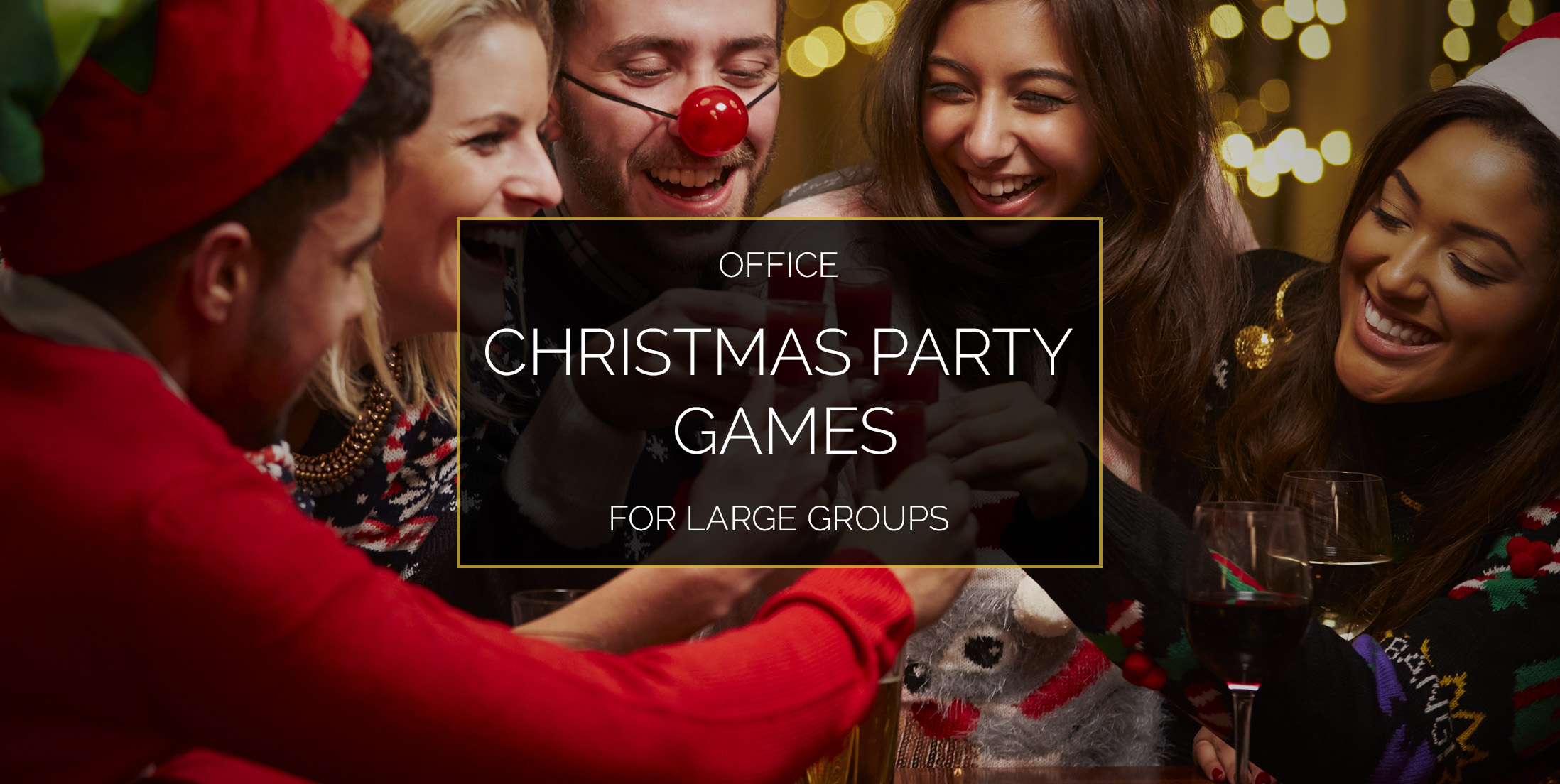 Office Christmas Party Games for Large Groups