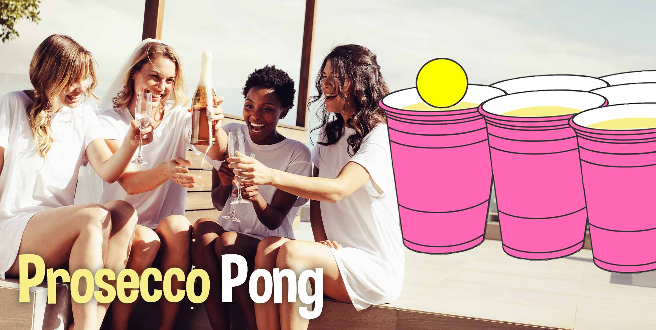 Prosecco Pong Hen Party Drinking Game