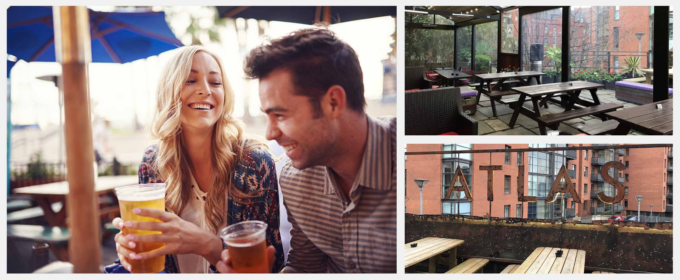 Best Beer Gardens in Manchester - Atlas Bar