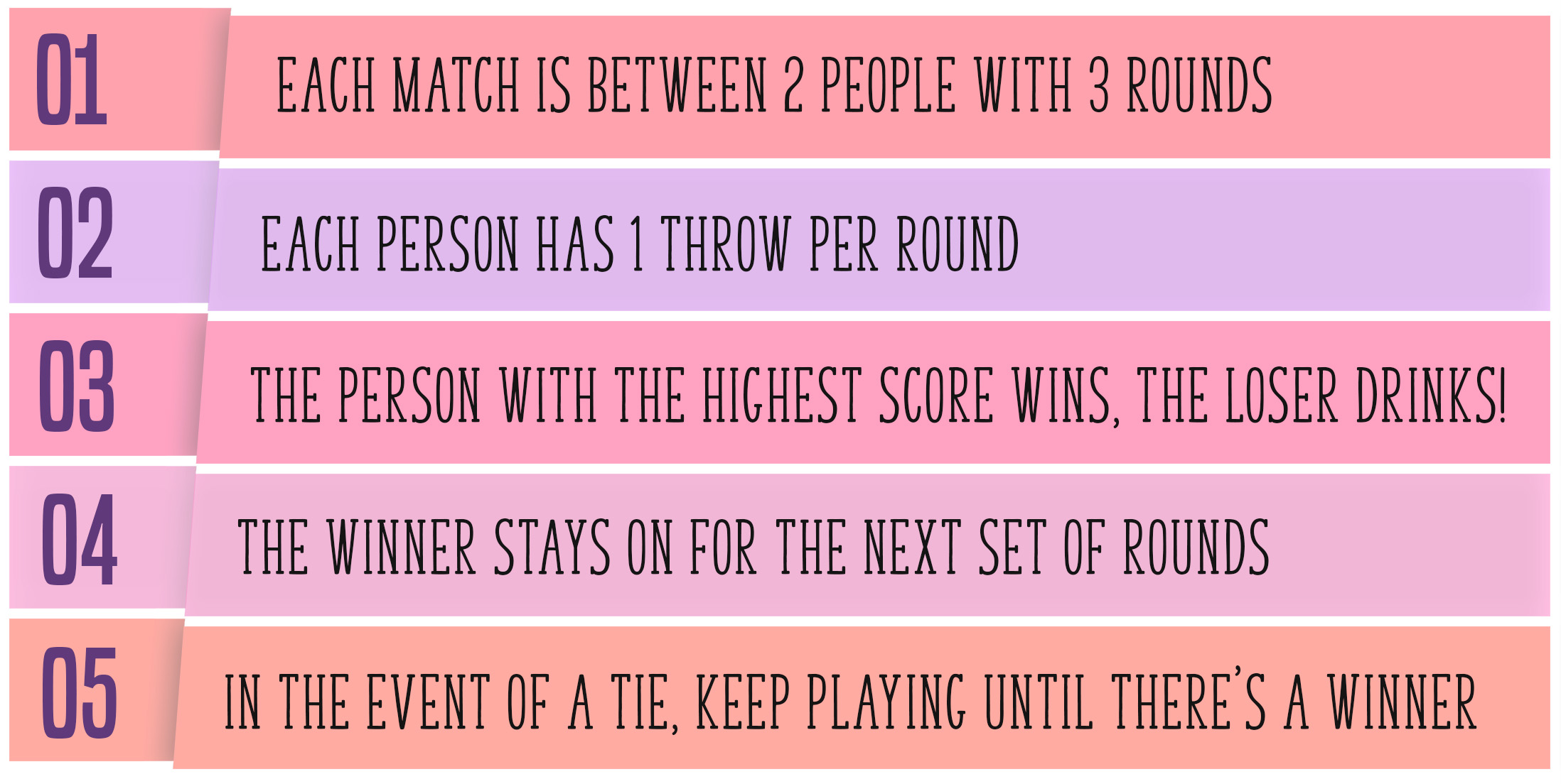 The Bra Pong Game Rules