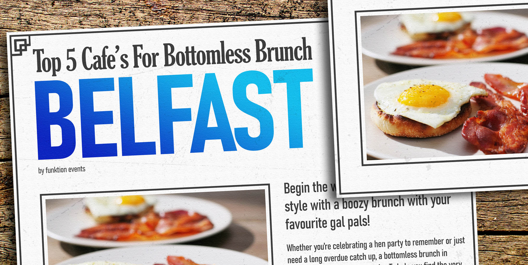 The Top 5 Cafe's for Bottomless Brunch in Belfast