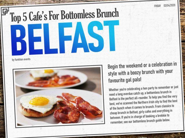 Best Bottomless Brunch in Belfast
