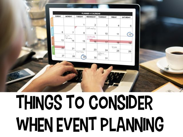 Things to Consider When Event Planning