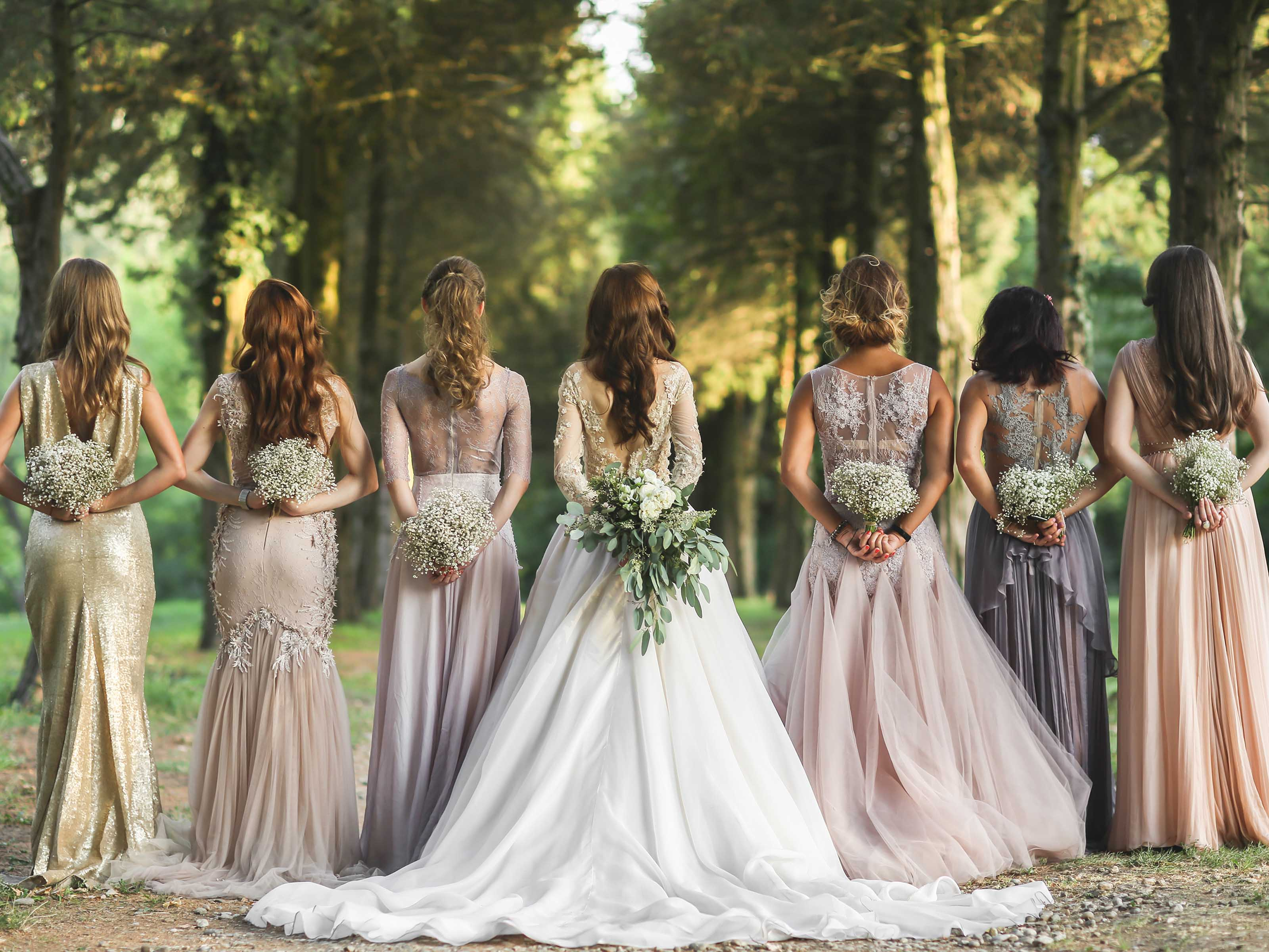 Winter Wedding Guide - Bridesmaid Dresses
