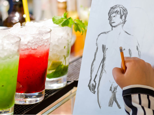 Mobile Life Drawing & Cocktail Making