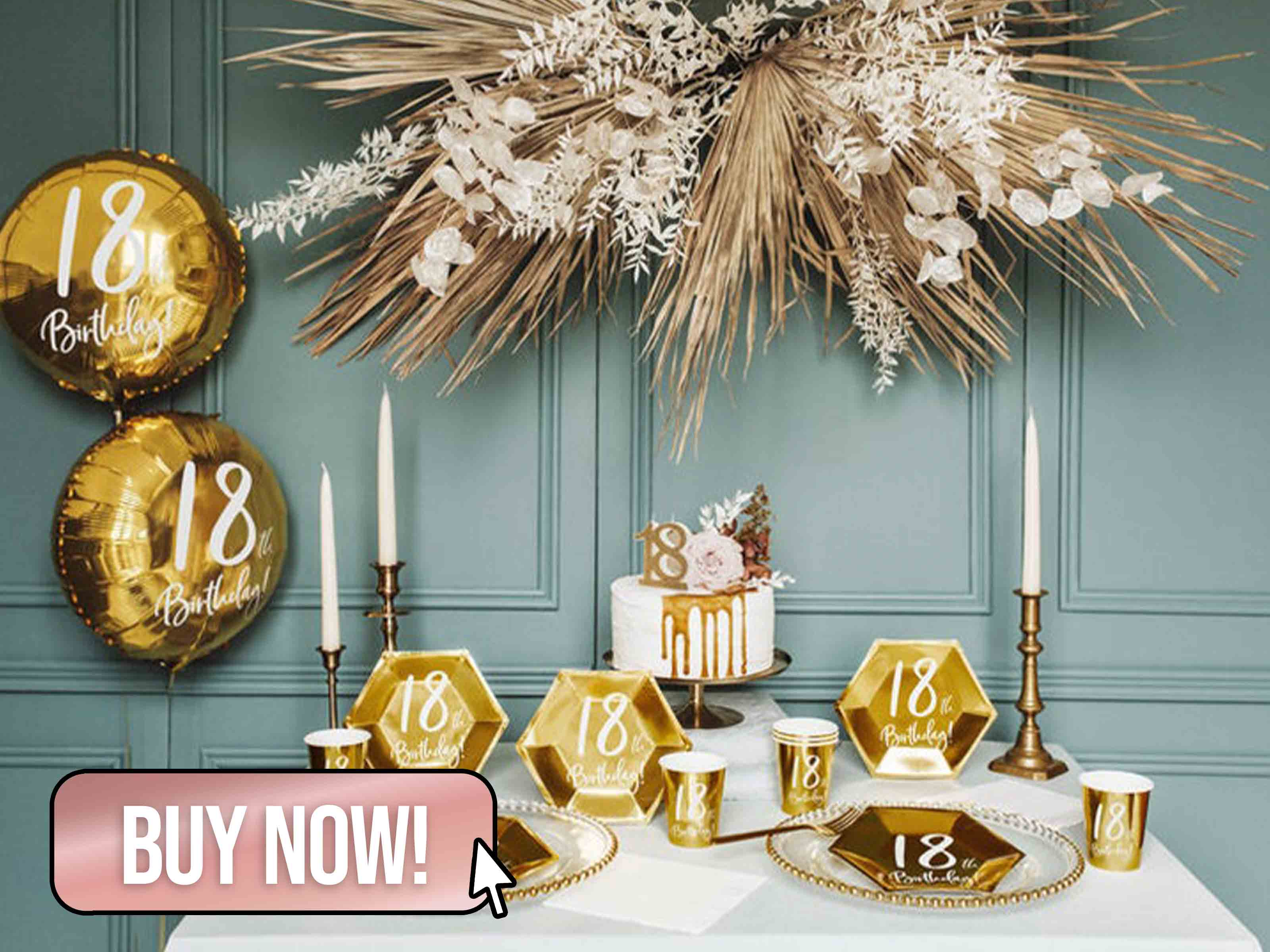 Gold 18th Birthday Party Decorations