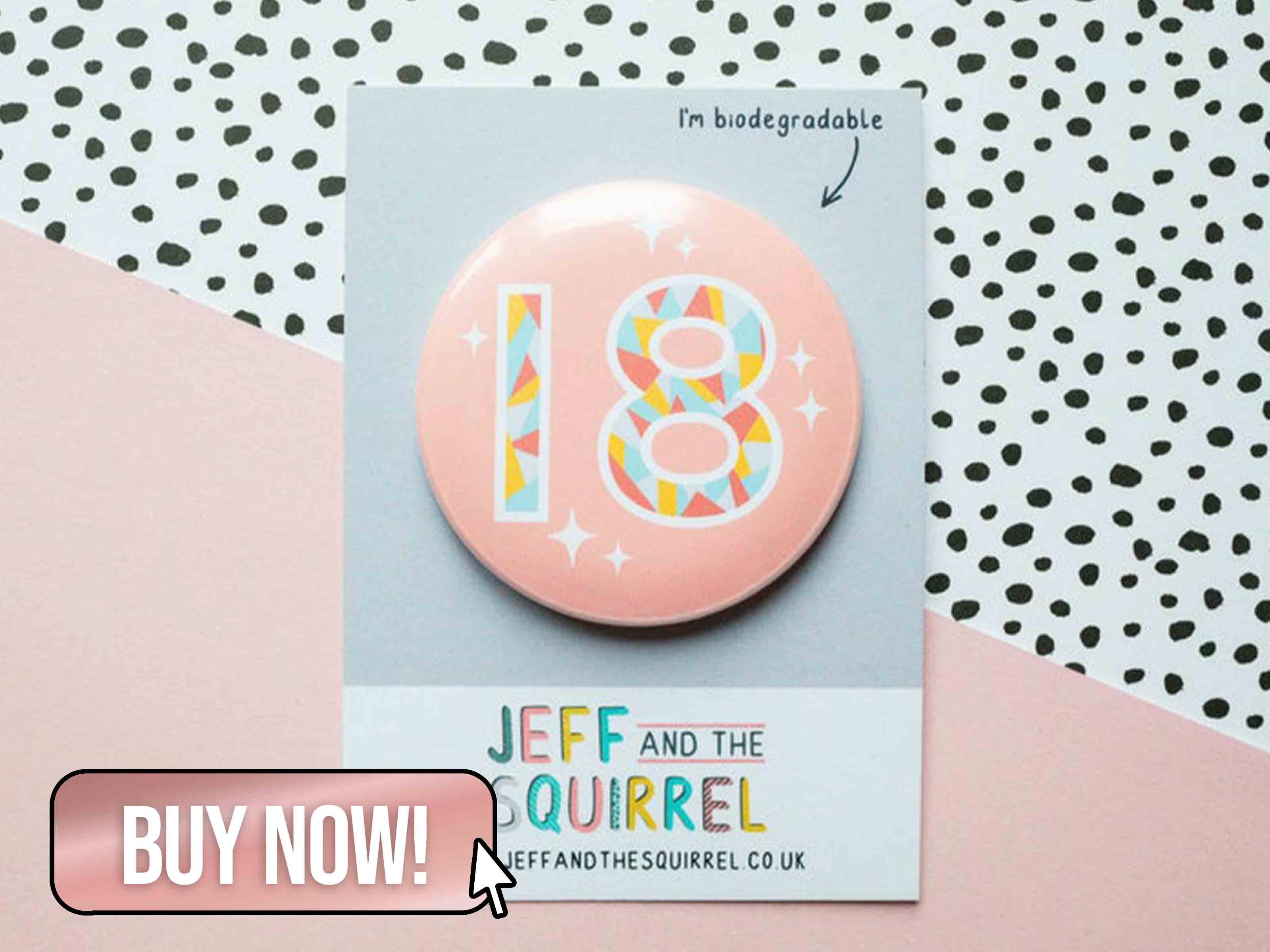18th Birthday Button Badge