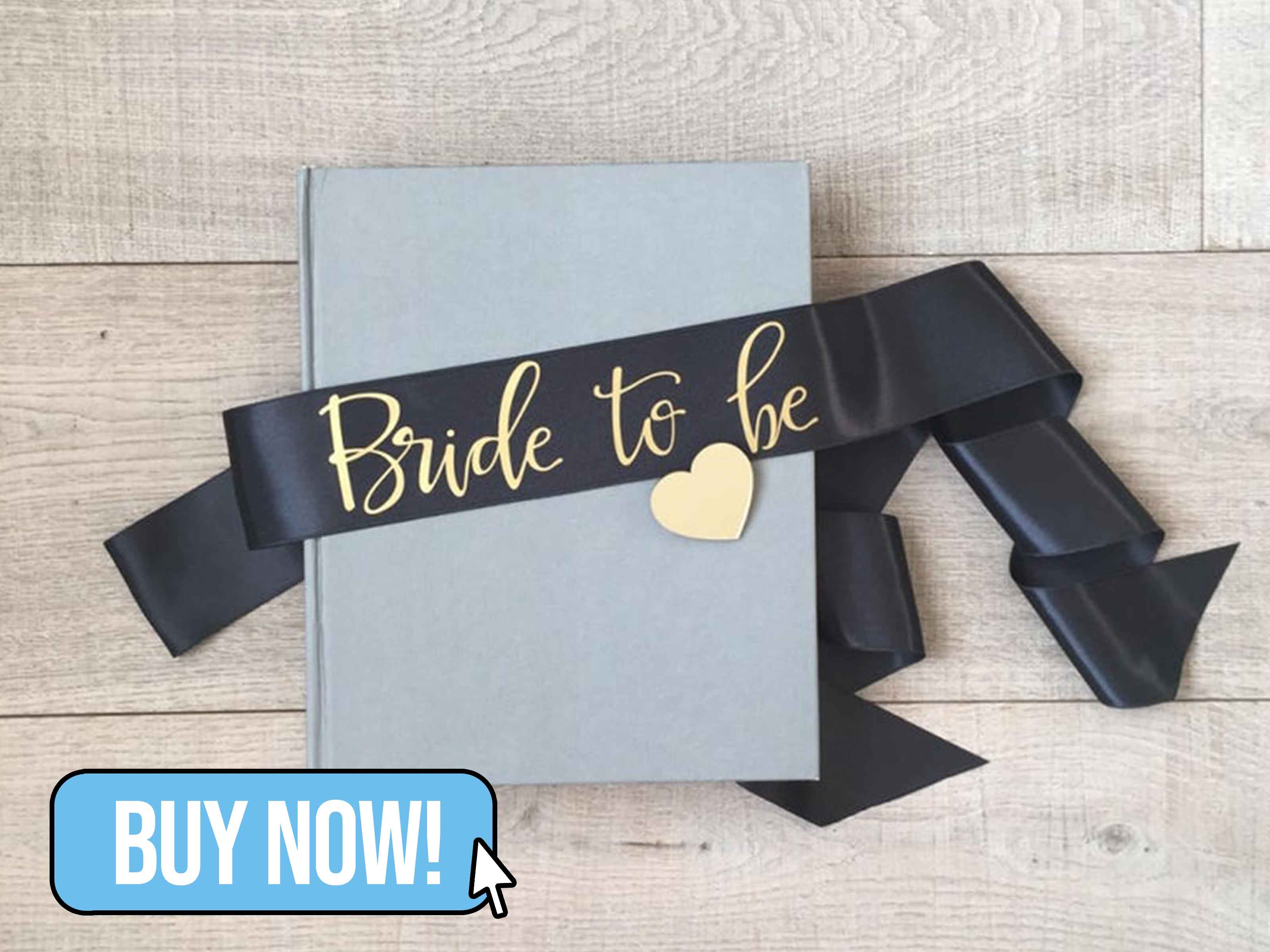 Black Bride to be Sash - HopStudio