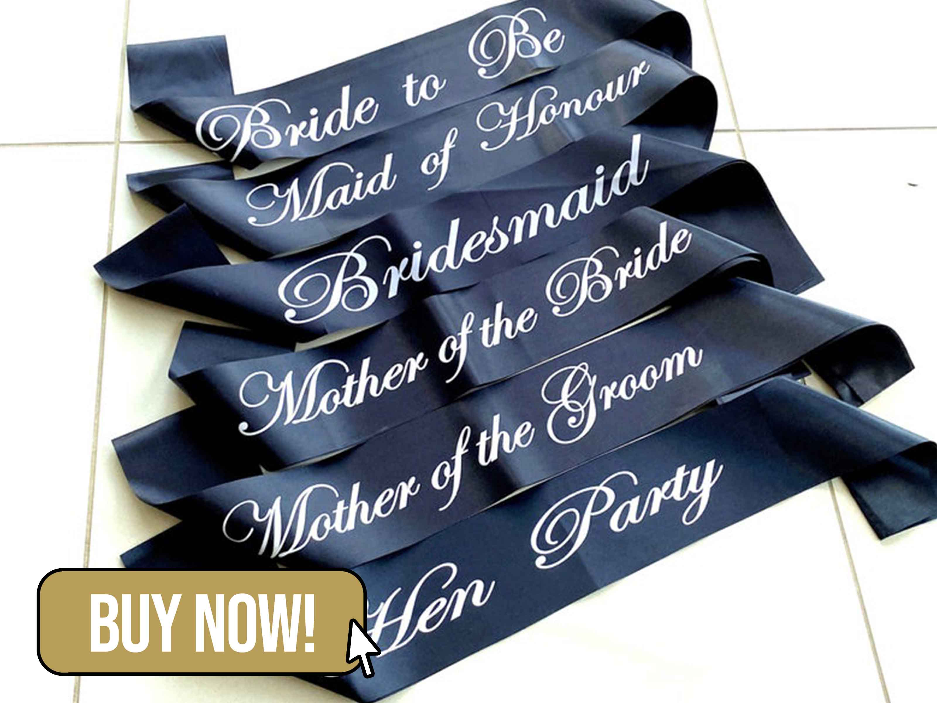 Black Hen Party Sash - OzPartySupplies