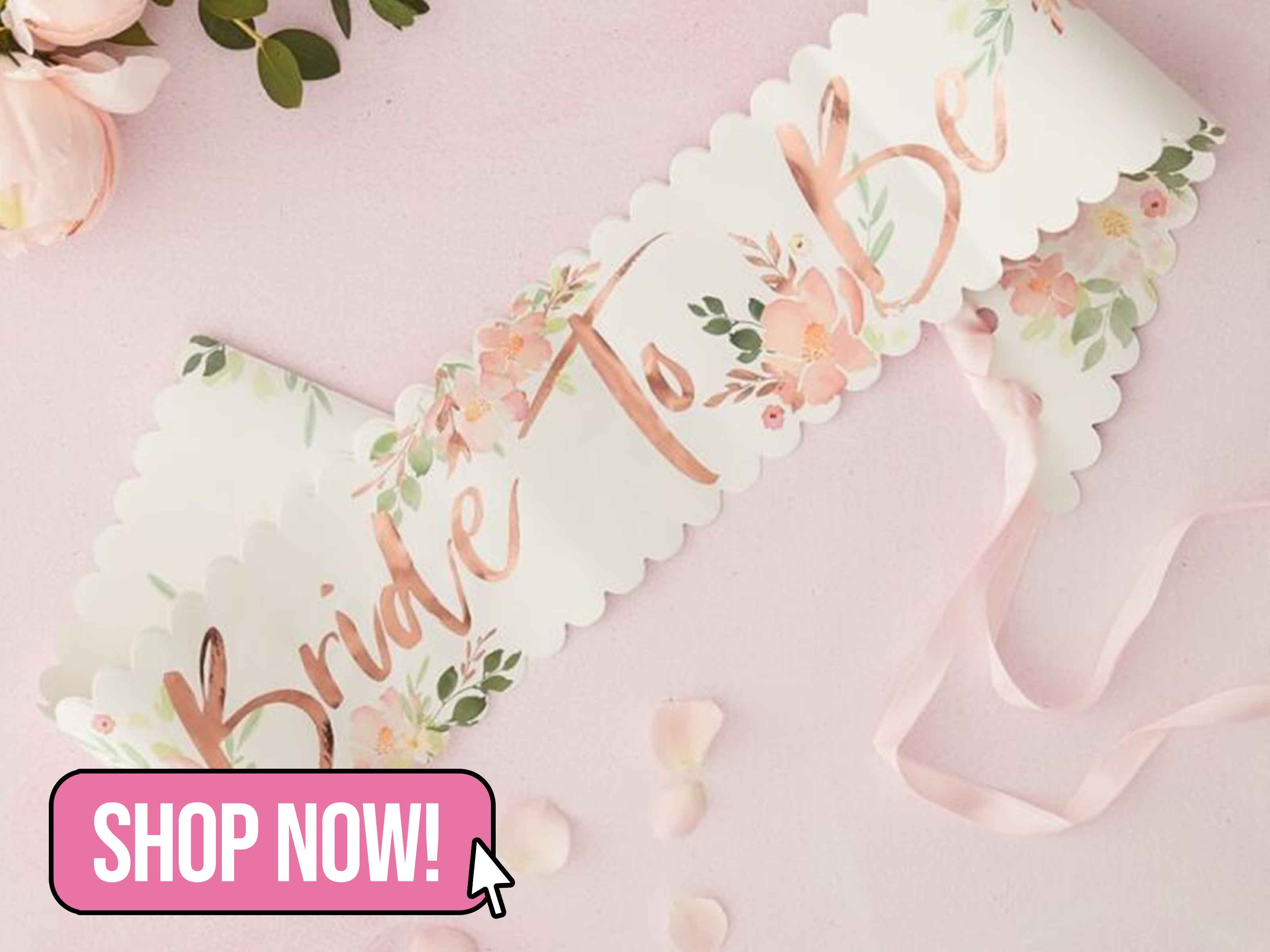 FLORAL BRIDE TO BE SASH - Ginger Ray