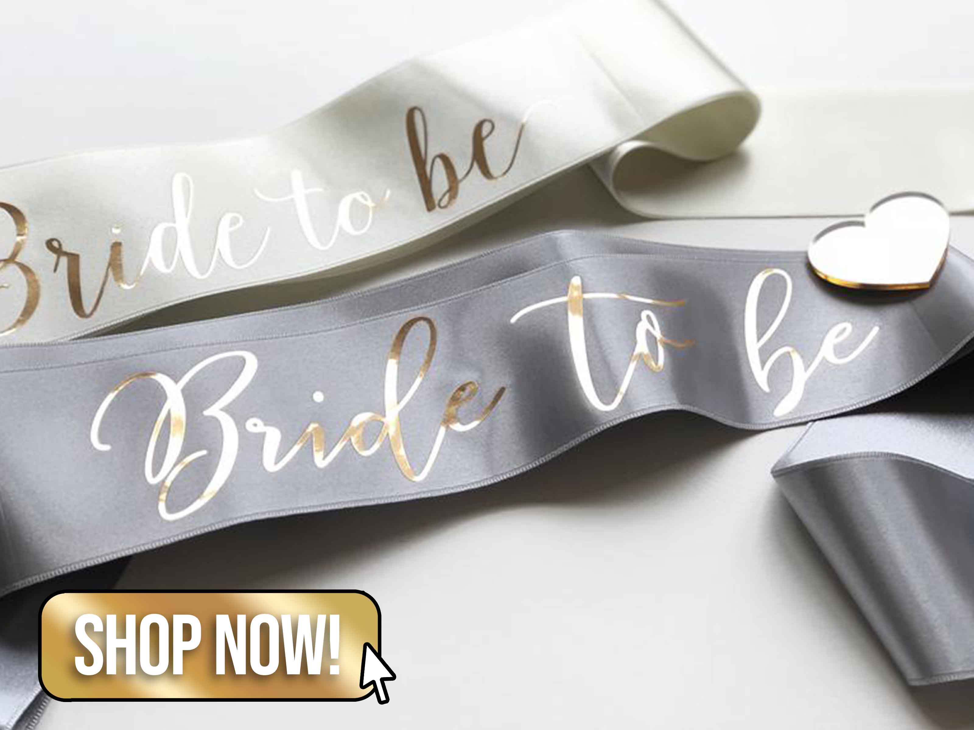 Metallic Gold Bride to be Sash - HopStudio
