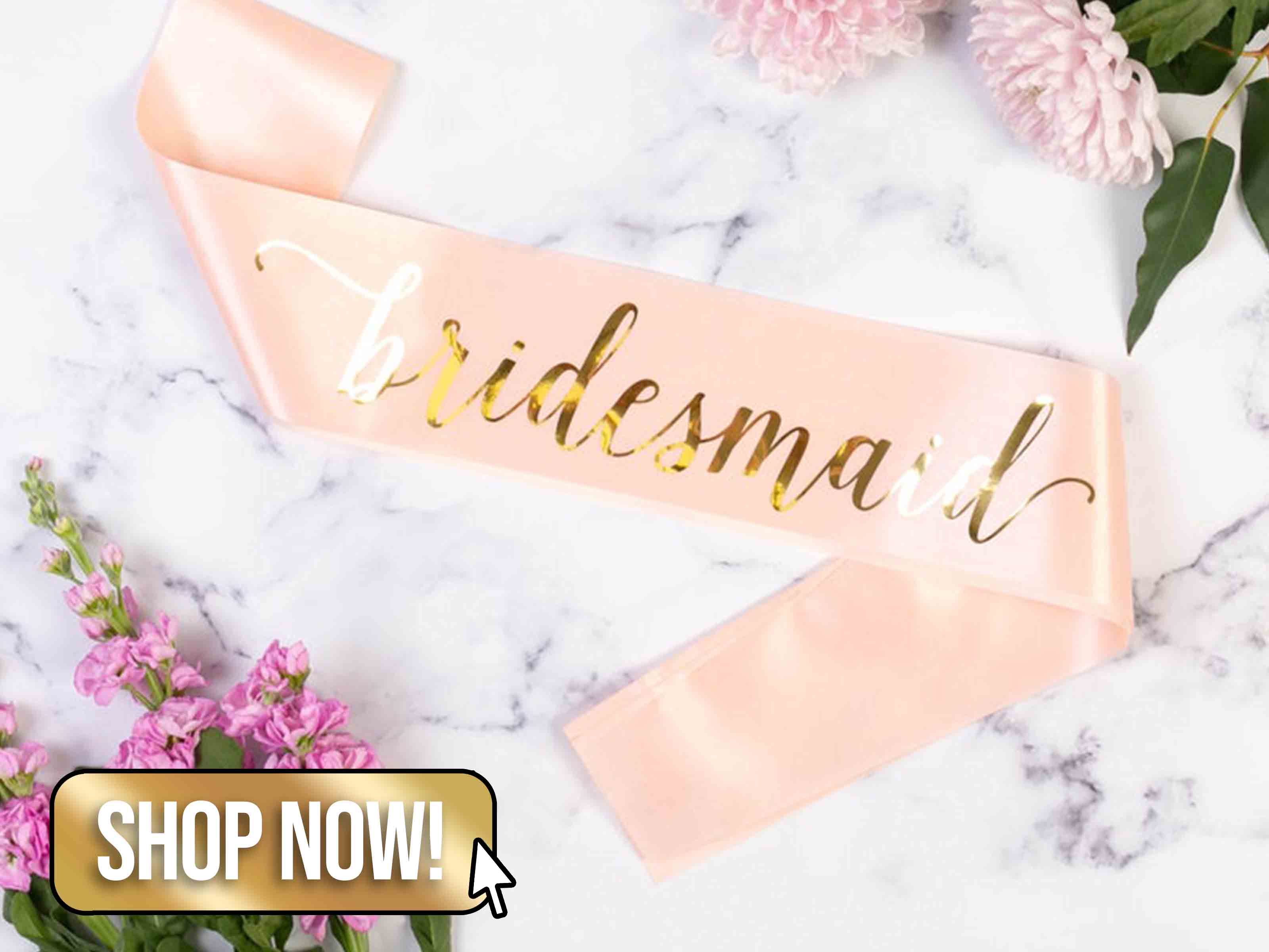 Luxury Bridesmaid Sash - TeamHen