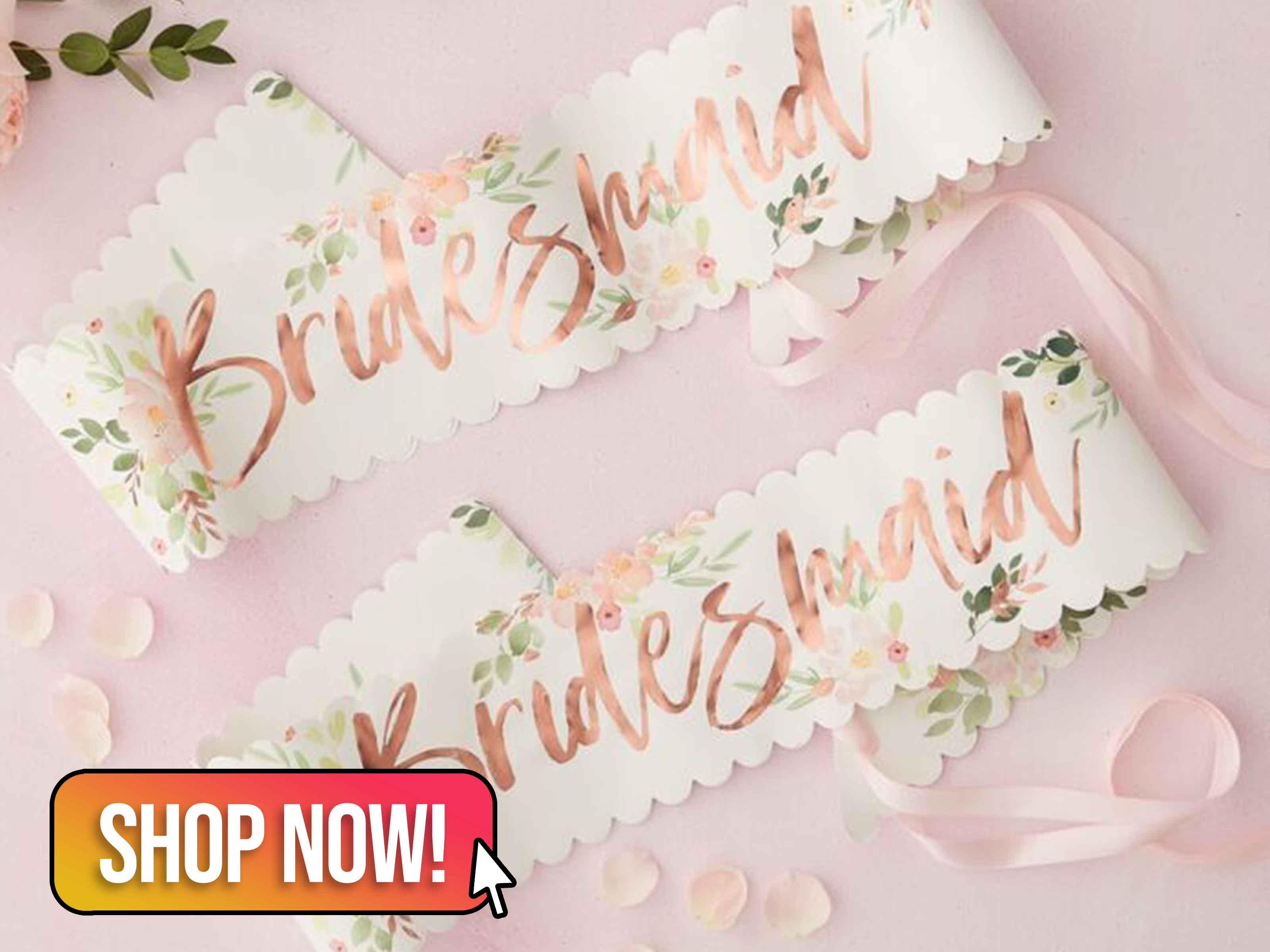 FLORAL BRIDESMAID SASHES - Ginger Ray