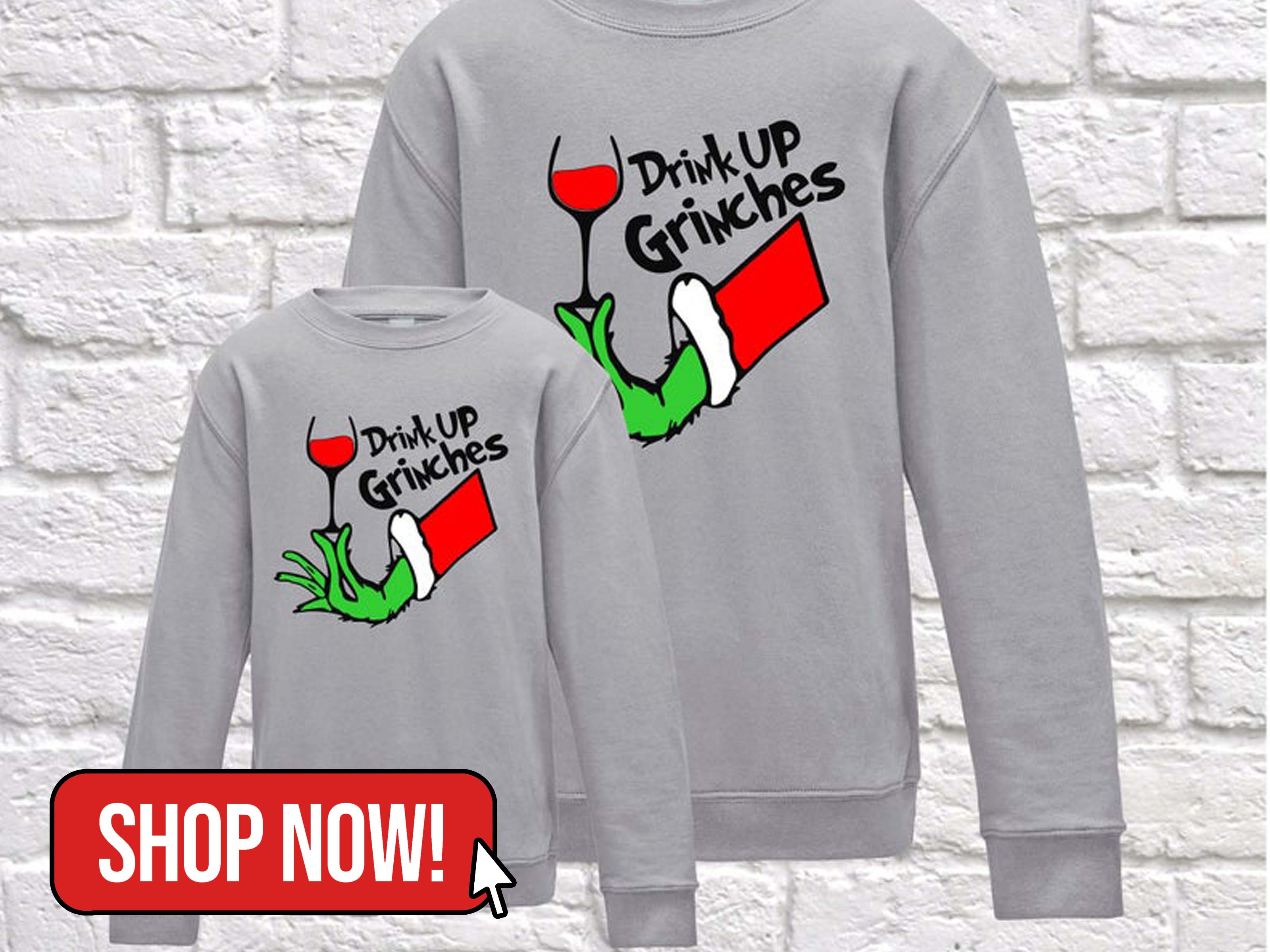 Drink Up Grinches Sweatshirt - PandrBoutique