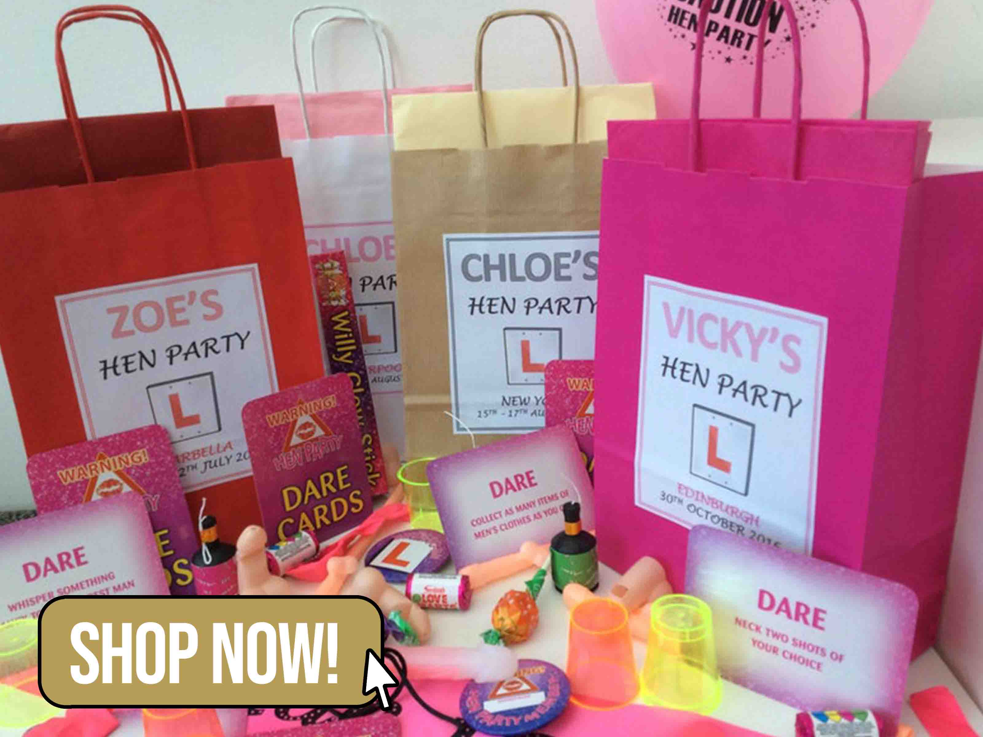 Personalised Filled Hen Party Bag - avagraceful