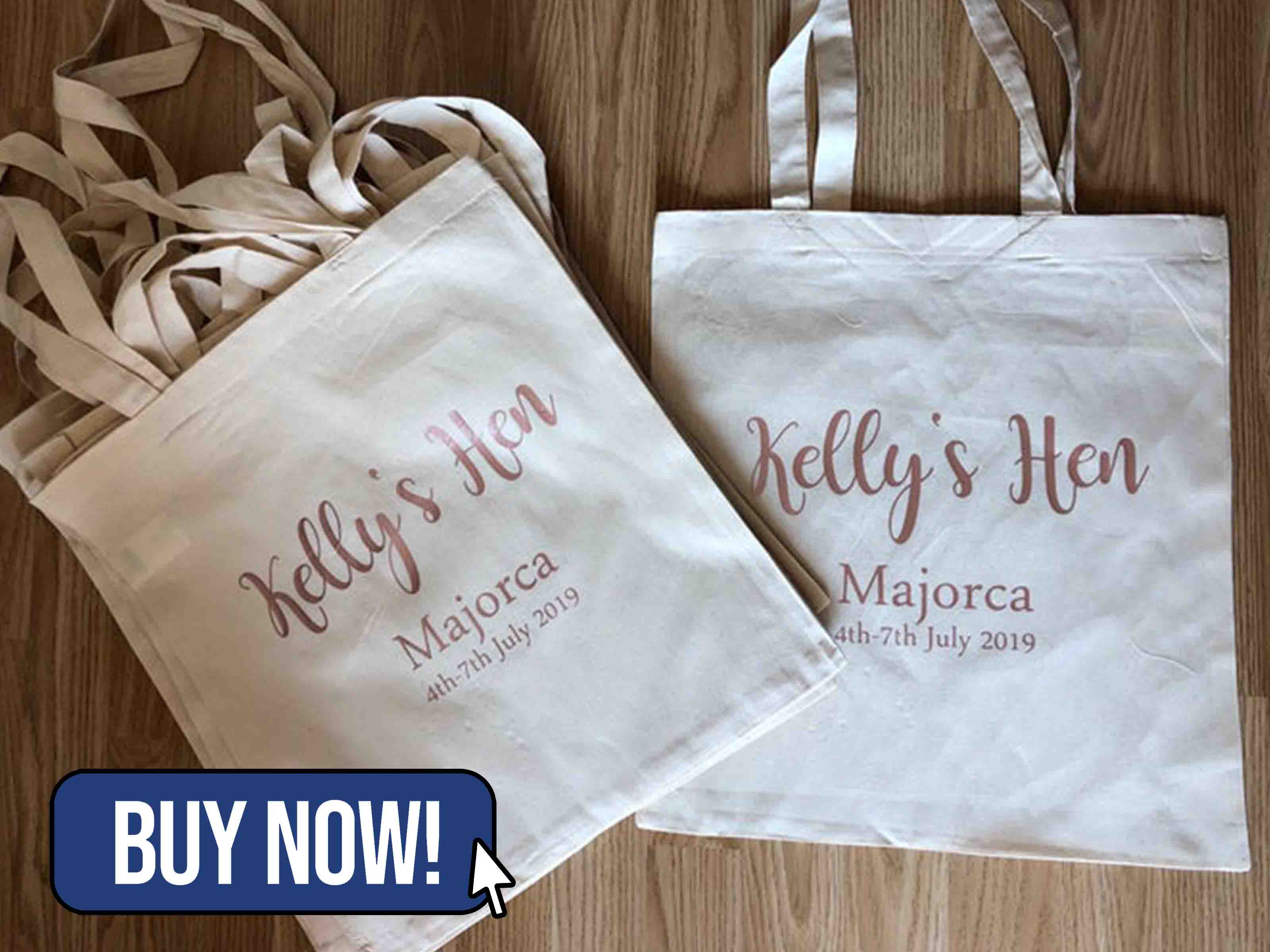 Personalised Hen Party Tote Bags - Customizdprintsuk